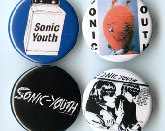 Sonic Youth Pinback Button Pack