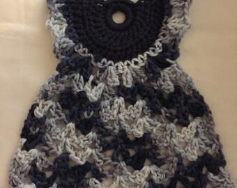 Dishcloth, Dress Dishcloth, Handmade Crochet Mini Dress NEW, Vintage Look, 100% Cotton, Dishrag