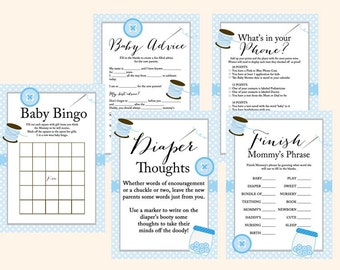 Instant download, cute as a button, Baby shower boy games, Sewing, Boy Cute as a button Baby Shower Games Printables, Blue Baby Shower TLC57