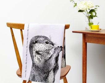 Linge de cuisine curieux Otter et furtivement Badger torchon Set-