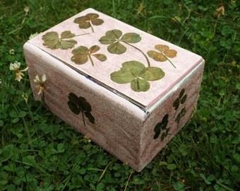 Lucky Pink Four Leaf Clover Box