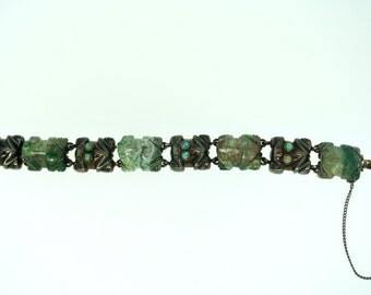 William Spratling Turquoise Frog Bracelet