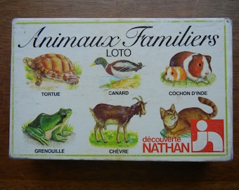 Nathan~ Animal Bingo or Animaux Familiers