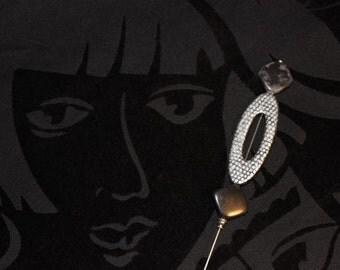 Silver Window Hat Pin