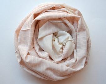 TURKISH TOWEL - handwoven bath towel / body towel / yoga towel / peshtemal / baby blanket / pink  white strips / spa pool beach 021