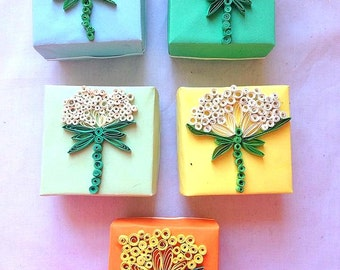 2x Flower Scrolls Gift Box / Keepsake Box