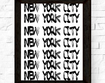 New York City  Printable Art, Black and White New York Prints, NYC Wall Art, Instant Download, Gift for New Yorkers, Modern Wall Art