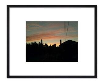 Into the Night (Warm) Framed Wall Art | Seattle Art | Seattle Wall Art | Sunset | Capitol Hill | Framed Photography | Modern Wall Art
