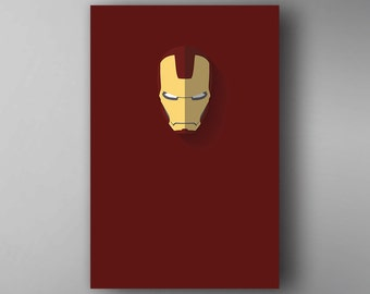 Ironman Inspired. Minimalistic. The Avengers. Movie Poster. Wall Art.