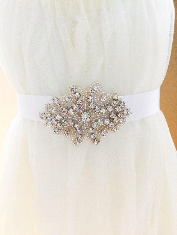 Bridal Sash, Wedding Sash, Bridal, Bridal Belt, Wedding Accessories, Wedding Belt, Rhinestone jewelry