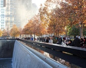 Remembering, New York, 911 Memorial, Fall Trees, Photography, Home Decor, Office Decor