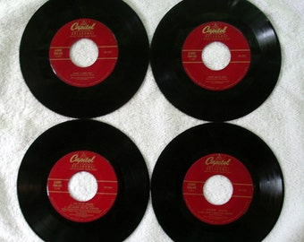 4 Capital 45 RPM Records - Matching Label Type - Roger & Hammerstein - Oklahoma - 45 RPM Art - 1960's Music - Motion Picture Sound Track
