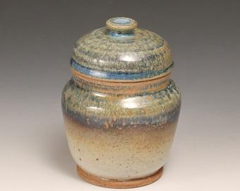 Lidded Ceramic Jar (Earth Tones)