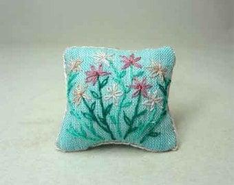 Blue miniature pillow