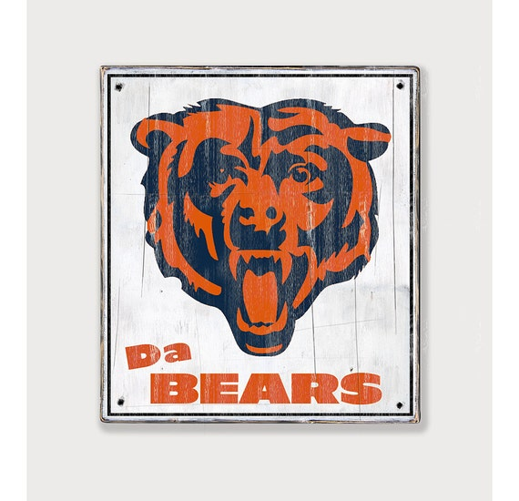 Chicago Man Cave Signs : Chicago bears distressed rustic wood sign by twotrainsrunning