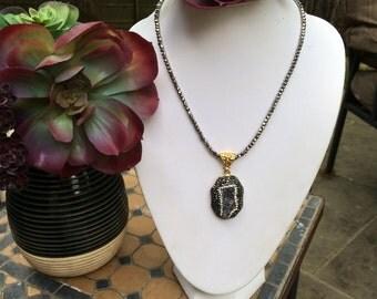 Druzy Pendant necklace