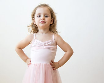 Blush pink flower girl dress, Ballerina tulle maxi dress, Toddlers tulle pink dress