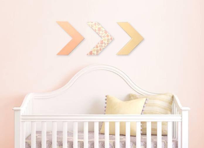 Arrow Wall Decor For Nursery : Arrow wall decor baby girl nursery handmade by
