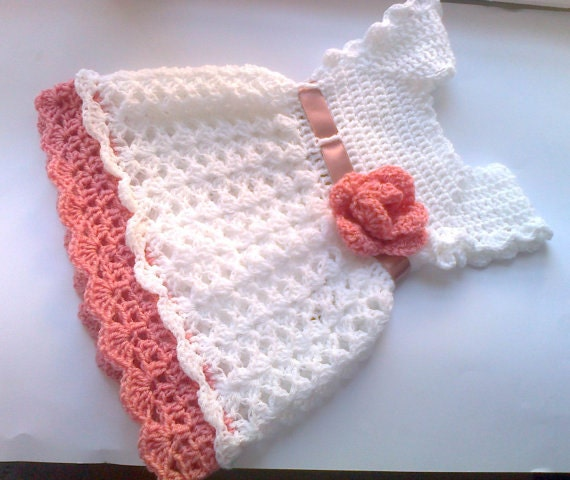 Crochet pattern baby dress pattern pdf Flower Baby dress crochet pattern