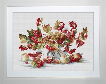 Luca-S New Counted Cross Stitch Kit - Guelder Rose