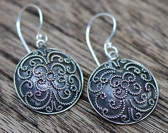 Bali Antique Silver Drop Earrings #ER010