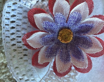 Red white and blue, 4th of july bow