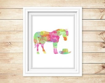 Watercolor horse - Perfect gift for the horse lover in your life