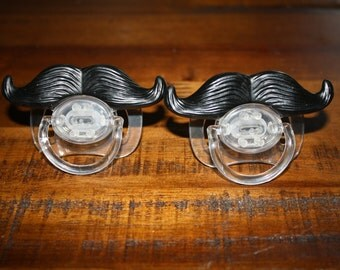 Mustache Pacifier for your little guy - (2 Pack) - Baby Paficier / Baby Shower Gift / Baby Gag Gift