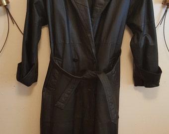 vintage100% leather coat