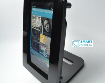 Nexus Tablet Black Acrylic Security Enclosure for Kiosk, POS, Store Display, Trade Show