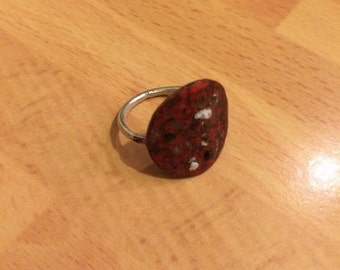 Ring enamelled copper and silver