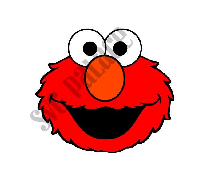 Faces Vector Files Elmo Face Svg Cut File