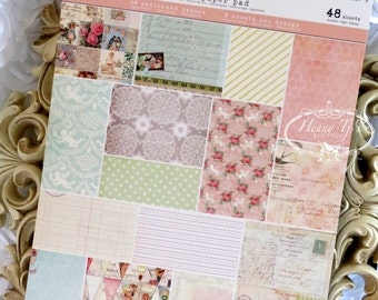 Prima (950514) DIVINE Collection A4 Cardstock Paper Pad. Shabby  Scrapbooking papers. Planner Divider.