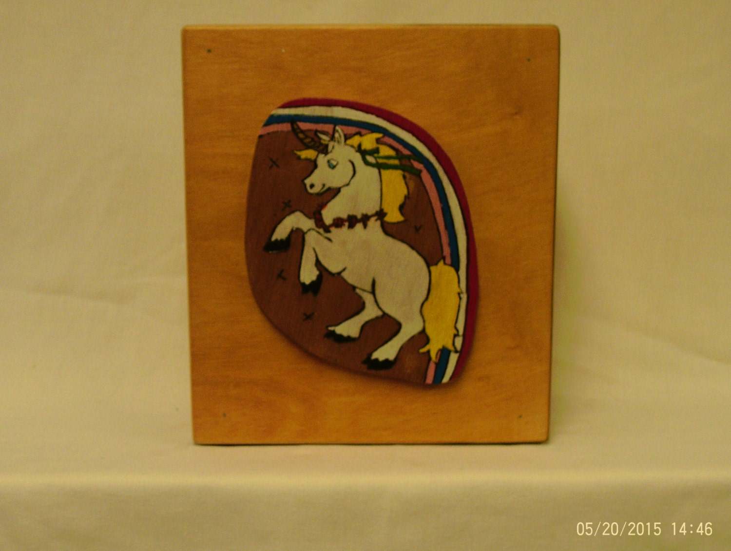 Wooden coin bank with unicorn with hidden by uneekwoodencrafts for Handmade coin bank