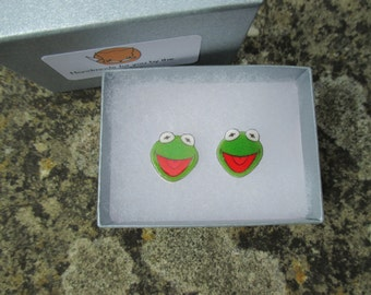 Kermit the Frog Earrings - Muppets