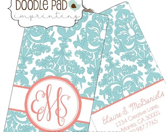 Monogrammed Luggage Tag, Personalized Luggage tag