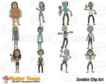 Zombie Clip Art, Digital Clipart, Digital Graphics