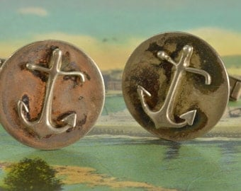 Sterling Silver Anchor Cuff Links 22.3mm - 12.8g - ES 137