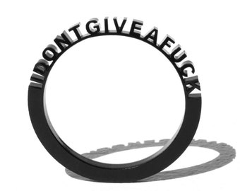 "Bracelet ""I don't give a fuck"" black"