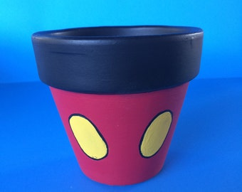Mickey Mouse Inspired Terracotta Pot