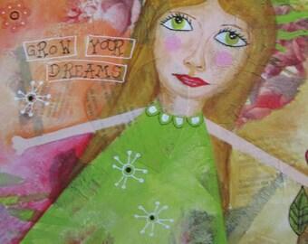 Original acrylic painting on canvas, Original mixed media art, Original acrylic painting, Mixed media canvas, Original acrylic painting