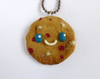 Raspberry White Chocolate Cookie Necklace