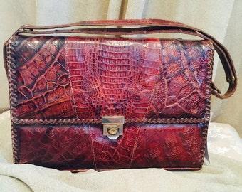 1940's ETCO Genuine Alligator Handbag Made in Florida