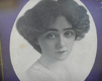 Framed Sheet Music Cover - Just A Gleam Of Heaven In Her Eyes - November 30, 1904