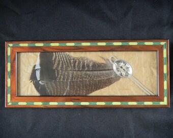 Turkey Feather Southwest Art Home Decor Native American Art