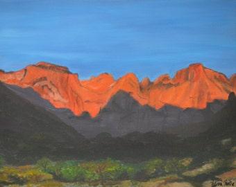 18x20 Original Acrylic Painting - Sunrise in Canyon Land
