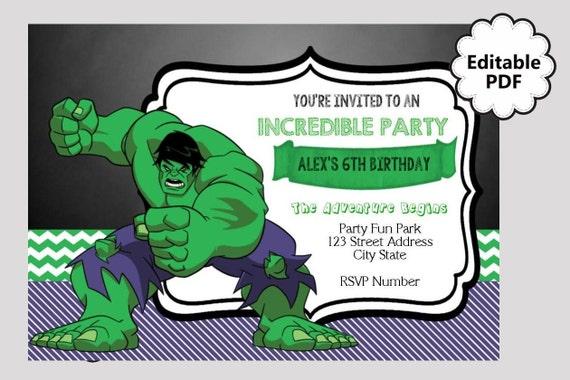 Hulk Birthday Invitations for your inspiration to make invitation template look beautiful