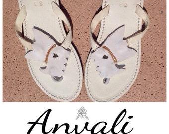 Yorkshire sandals flip flops leather dog gift summer shoes