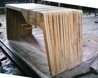 Modern desk with drawer. Cedar Plywood