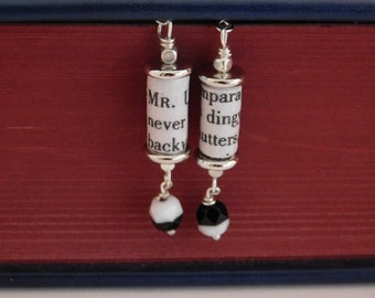 Jekyll and Hyde Book Page Earrings